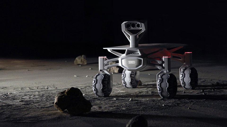 Audi quiere pisar la Luna con este rover Quattro