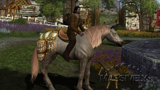 LotRO warsteed in Snowbourn