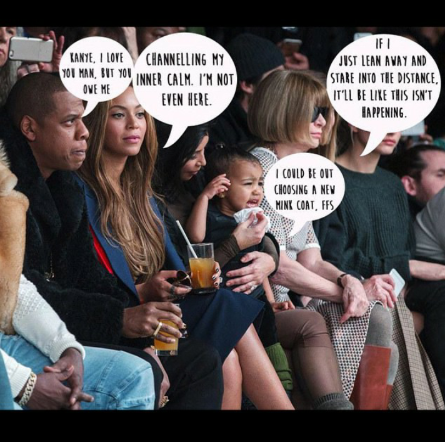crying baby, fashion show, nyfw, kanye west, addidas