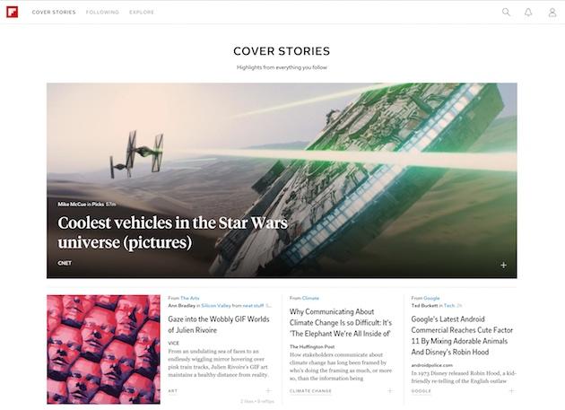 Flipboard Web Cover Stories