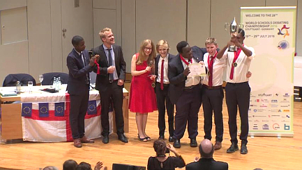 England clinches World Schools Debating title