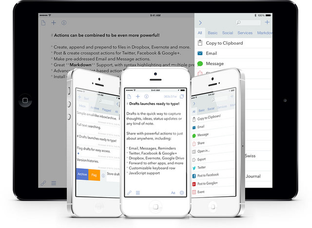 Drafts 4 brings a new hope to a favorite iOS utility