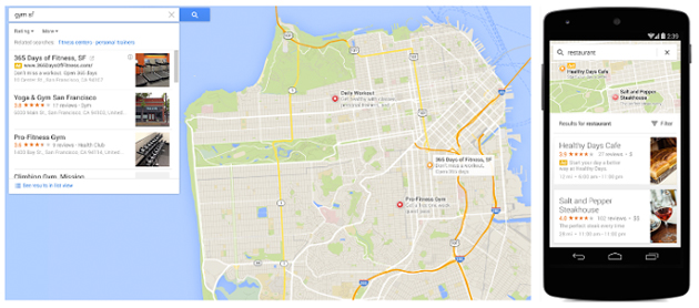 Store listings in Google Maps on the web and mobile
