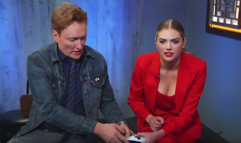 "Conan O'Brien spielt mit Supermodel Kate Upton ""Cuphead"""