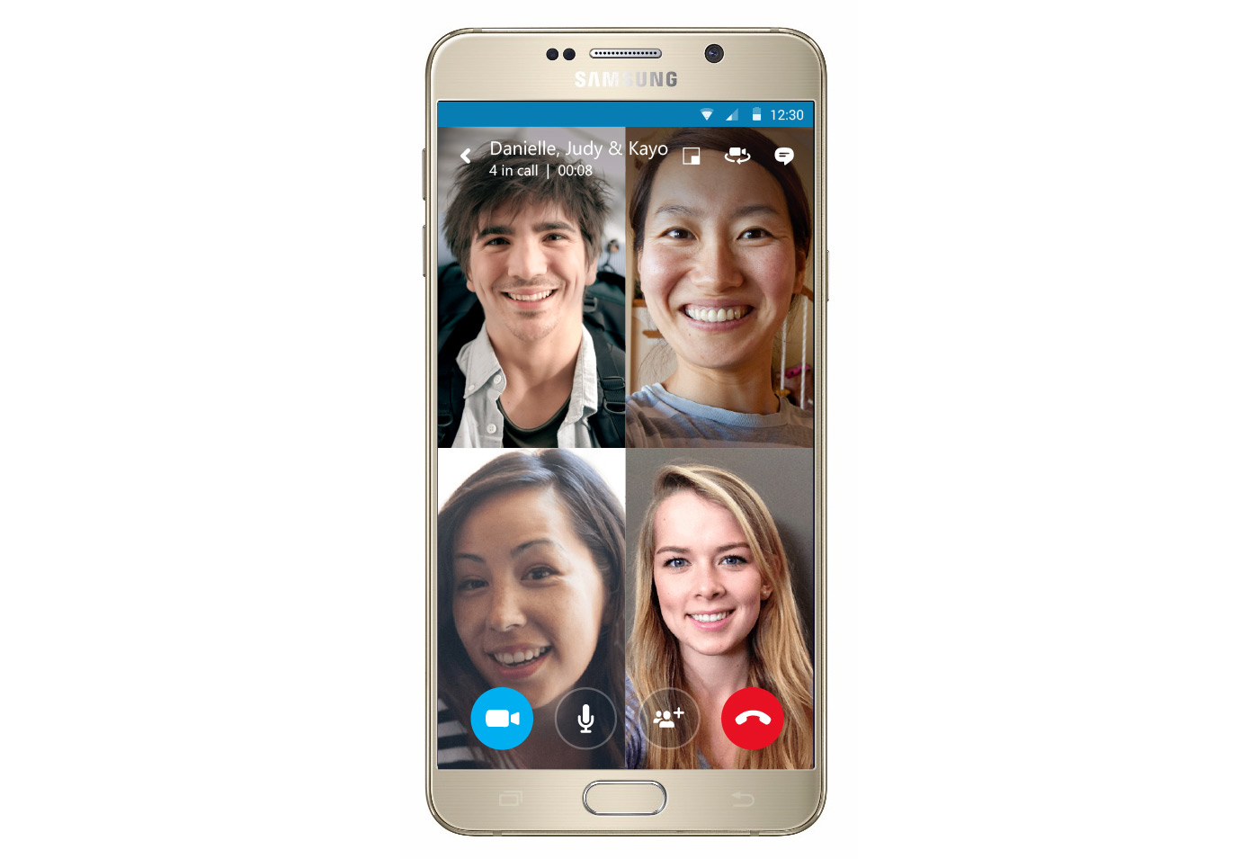Group video calling in Skype for Android