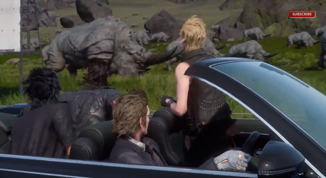 Final Fantasy XV: a road trip with dinosaurs!