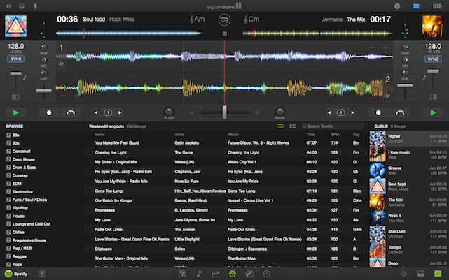 djay pro's new interface