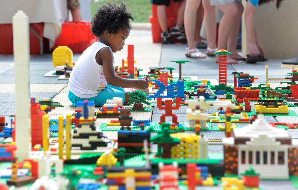 A sea of Lego creations