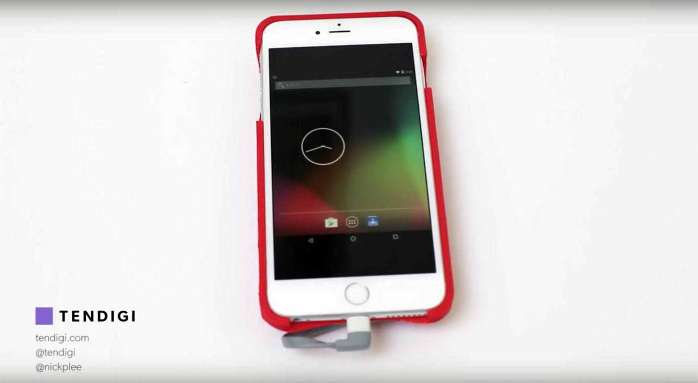 Convierte tu iPhone en un teléfono Android con esta carcasa