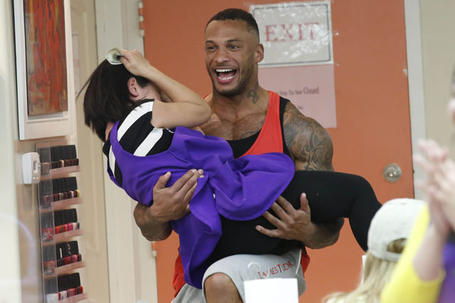 Kelly Brook is all smiles as she and fiancee, David McIntosh are seen at Beverly Hills Nail Design spa along side, Whitney Port. The sexy English model/television presenter was seen in Beverly Hills with her muscular fiancee. <P> Pictured: David McIntosh <P><B>Ref: SPL732765  050414  </B><BR/> Picture by: Sharky / Splash News<BR/> </P><P> <B>Splash News and Pictures</B><BR/> Los Angeles: 310-821-2666<BR/> New York: 212-619-2666<BR/> London: 870-934-2666<BR/> photodesk@splashnews.com<BR/> </P>