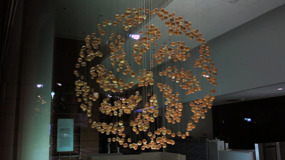 The Big Picture: A living sculpture made from 'programmed' wooden balls
