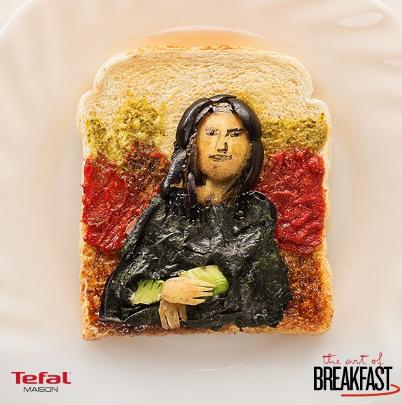 もったいなくて食べられない!トースト名画シリーズがクオリティ高すぎる