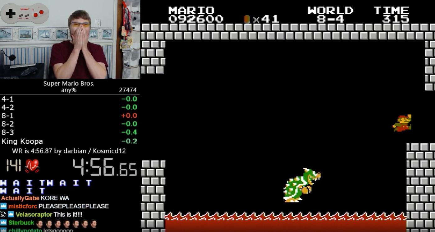 Un nuevo speedrun vuelve a batir el récord de Super Mario Bros