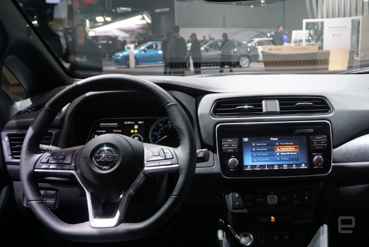 Nissan Leaf (interior)