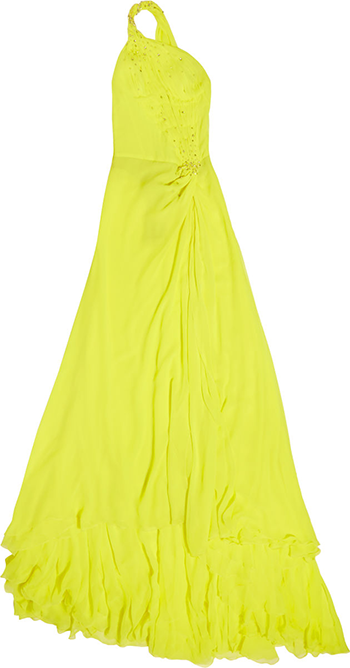 Victoria Beckham yellow dress
