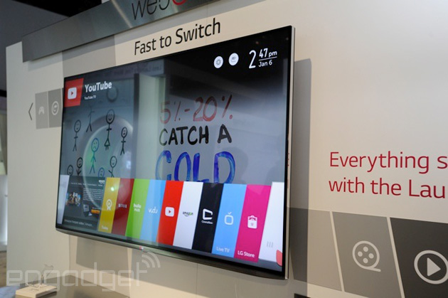 LG webOS TV at CES 2014