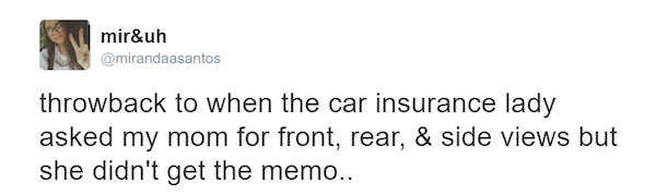 Clueless Mom Sends Car Insurance Selfies Instead Of Pictures Of Her Car