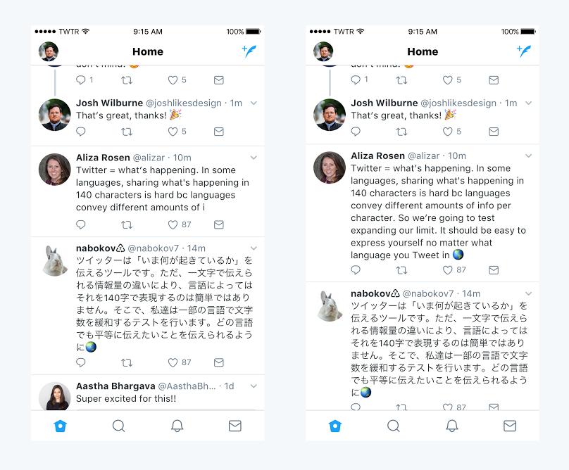 Twitter comienza a probar un nuevo límite de 280 caracteres