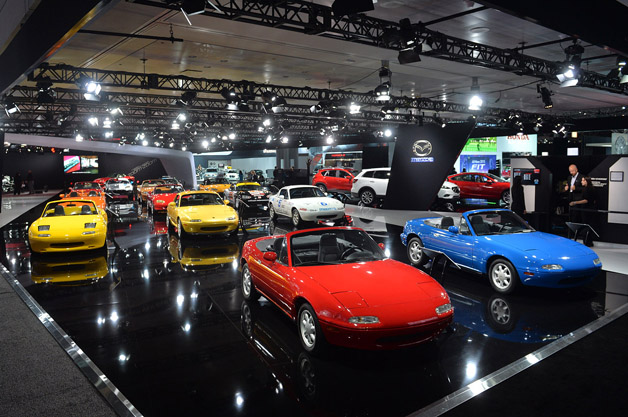 Mazda Miata 25th Anniversary Display