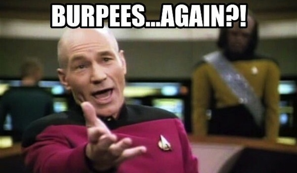 crossfit meme, crossfit burpees again