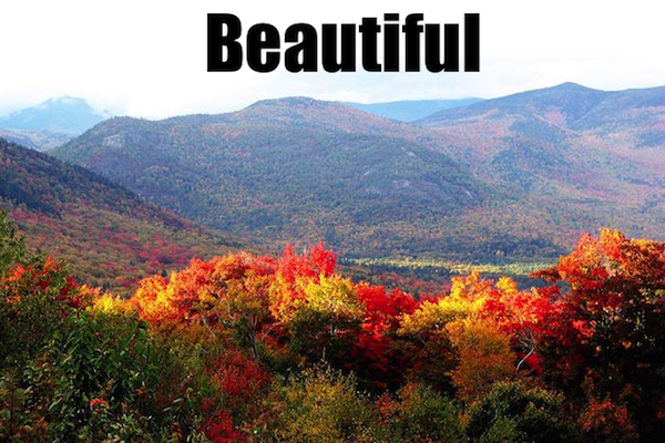 50 words for 50 states, new hampshire beautiful