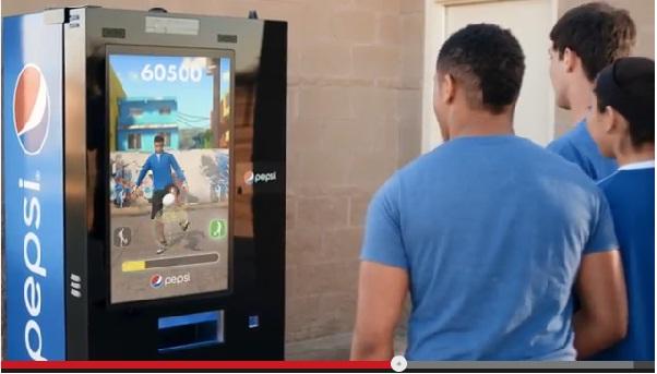 メッシ、ファン・ペルシーのようにリフティングすればペプシが無料で貰える自販機