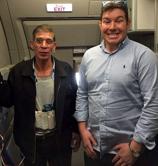 British Hostage Takes Smiling Selfie With Hijacker Strapped With A 'Suicide Belt'