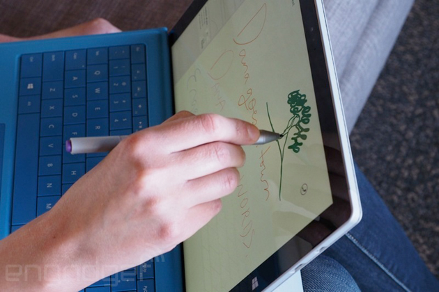 Pen input on a Surface Pro 3