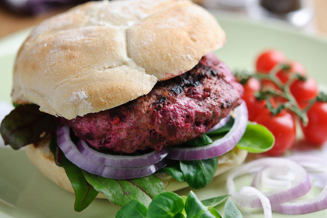Lamb and beetroot burger recipe