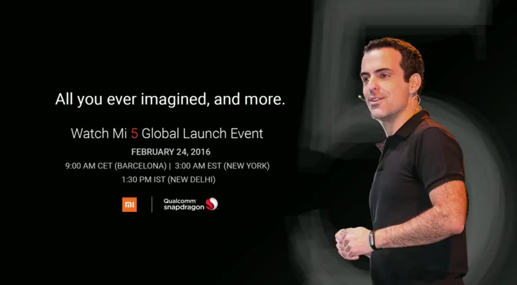 Sigue en directo la conferencia de Xiaomi en el MWC 2016