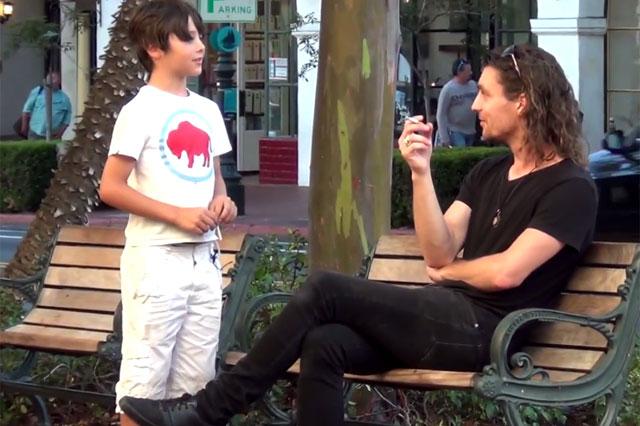 kid smoking social experiemnt