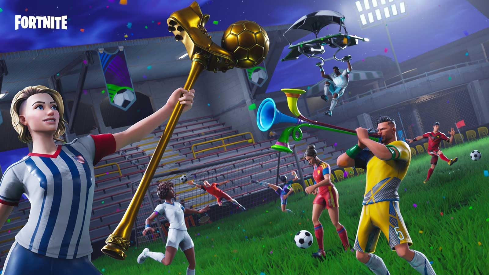 photo image 'Fortnite' marks World Cup with stadium and goal scoring challenges