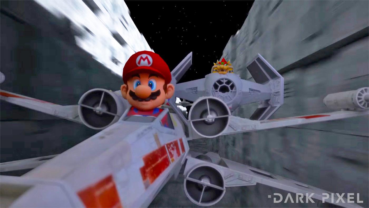 Mario y Star Wars se fusionan en este divertido vídeo
