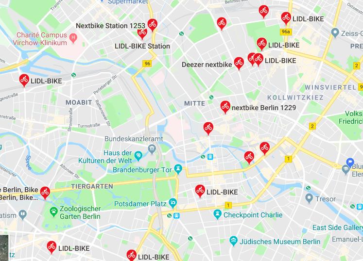 Google Maps integriert bald Sharing-Fahrrad-Verfügbarkeit