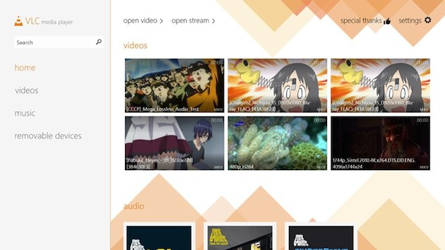 VLC media player welcomes a new, cleaner look on Windows 8.1