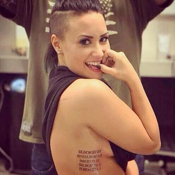 demi lovato new tattoo meaning family birthdays numbers