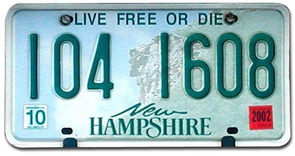 greatest things from every state, new hampshire, live free or die