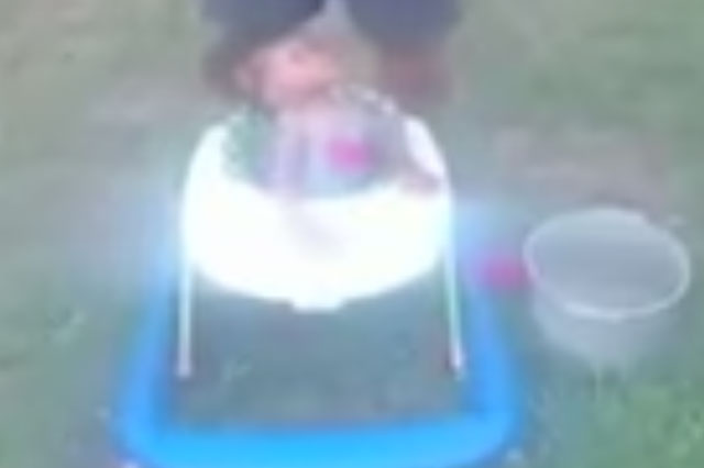 Grandfather investigated after making baby take part in Ice Bucket Challenge
