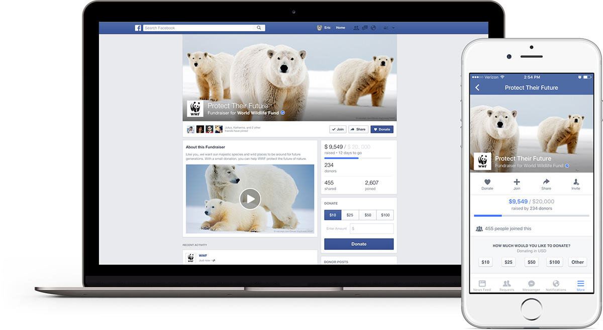 Facebook is testing a new set of tools for nonprofits