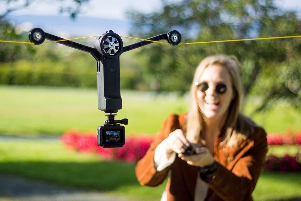 Schnur statt Drohne: Cable Cam geht auf Kickstarter steil
