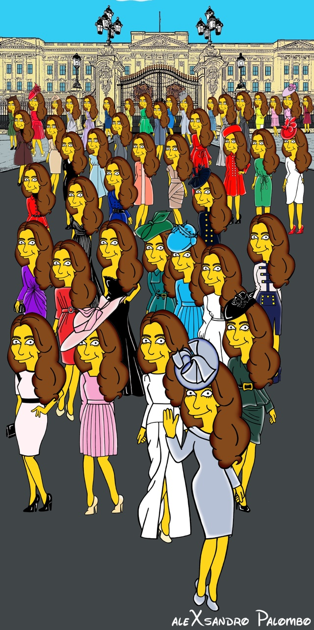 AleXsandro Palambo give Kate Middleton the Simpsons treatment in new artwork