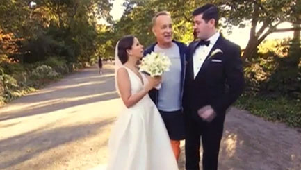 Tom Hanks gatecrashes wedding