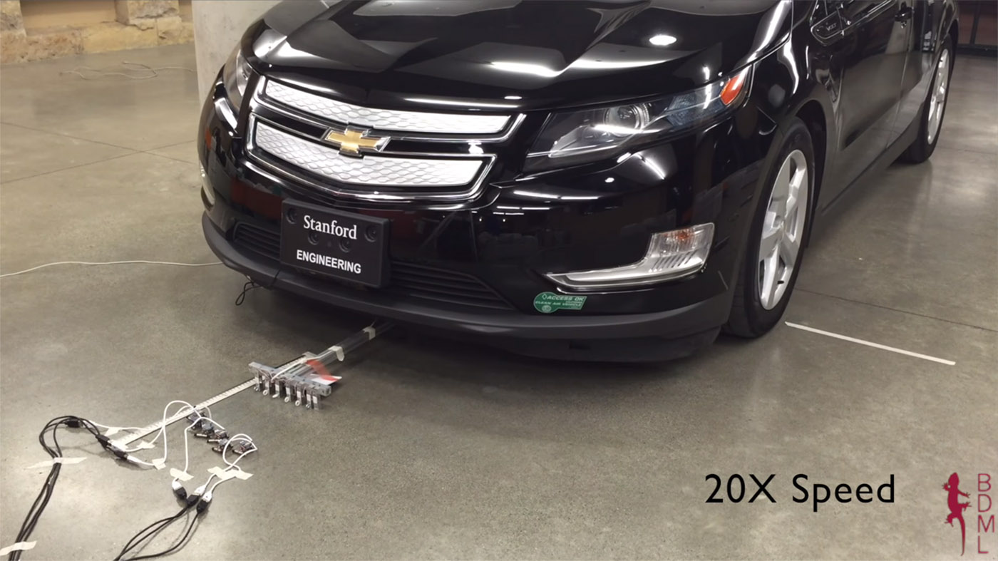 Six tiny robots can pull a two-ton car