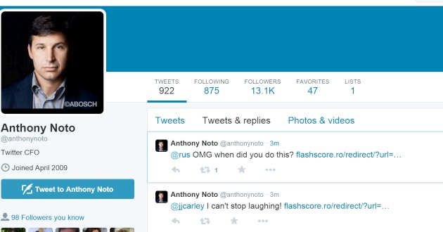 Twitter's CFO is not very good at using Twitter