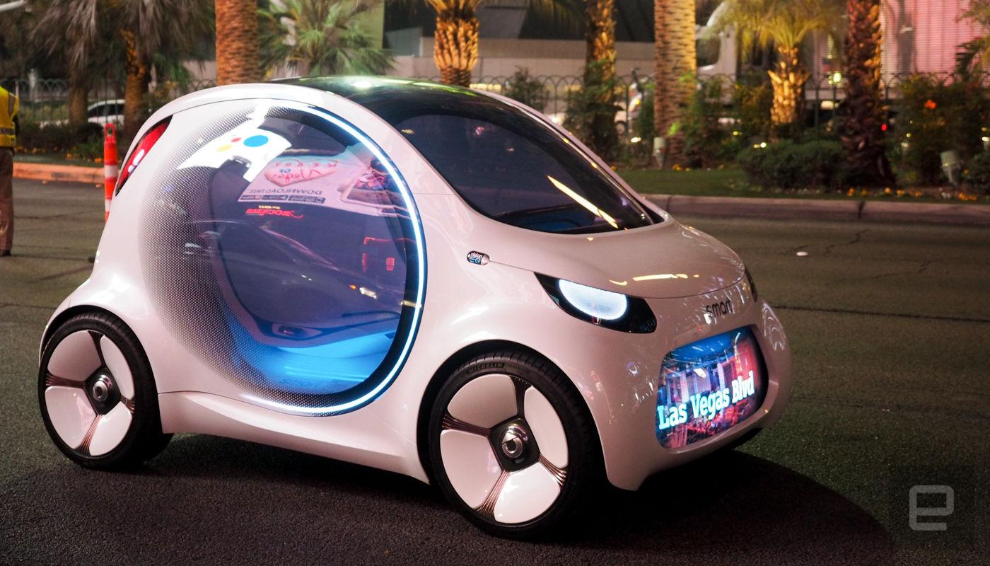Über den Las Vegas Strip im selbstfahrenden Smart Vision EQ