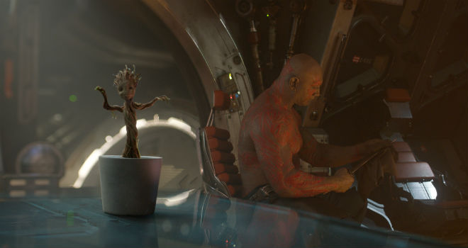 guardians of the galaxy cast dance baby groot