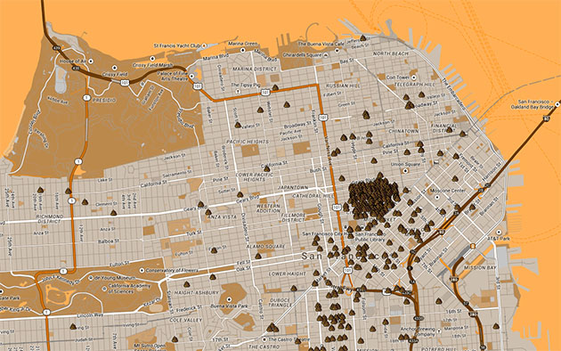 San Francisco's public defecation map highlights a shitty situation