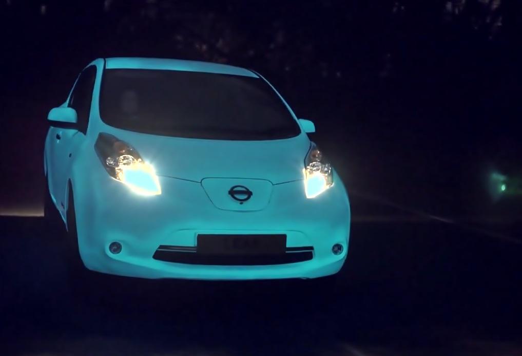 Video: Nissan  entwickelt leuchtenden Lack