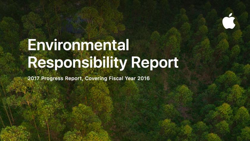Apple veröffentlicht jährlichen Umweltschutzbericht
