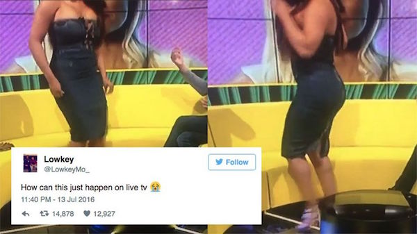 This Is What Occurs When You Attempt To Twerk In A Tight Dress On Live TV